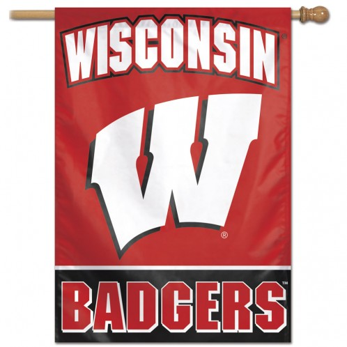 UNIVERSITY OF WISCONSIN, VERTICAL FLAG