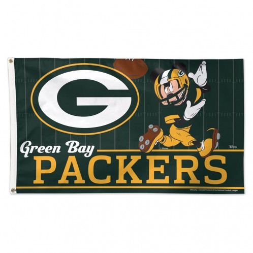 Green Bay Packers 3' X 5' - Mickey Mouse