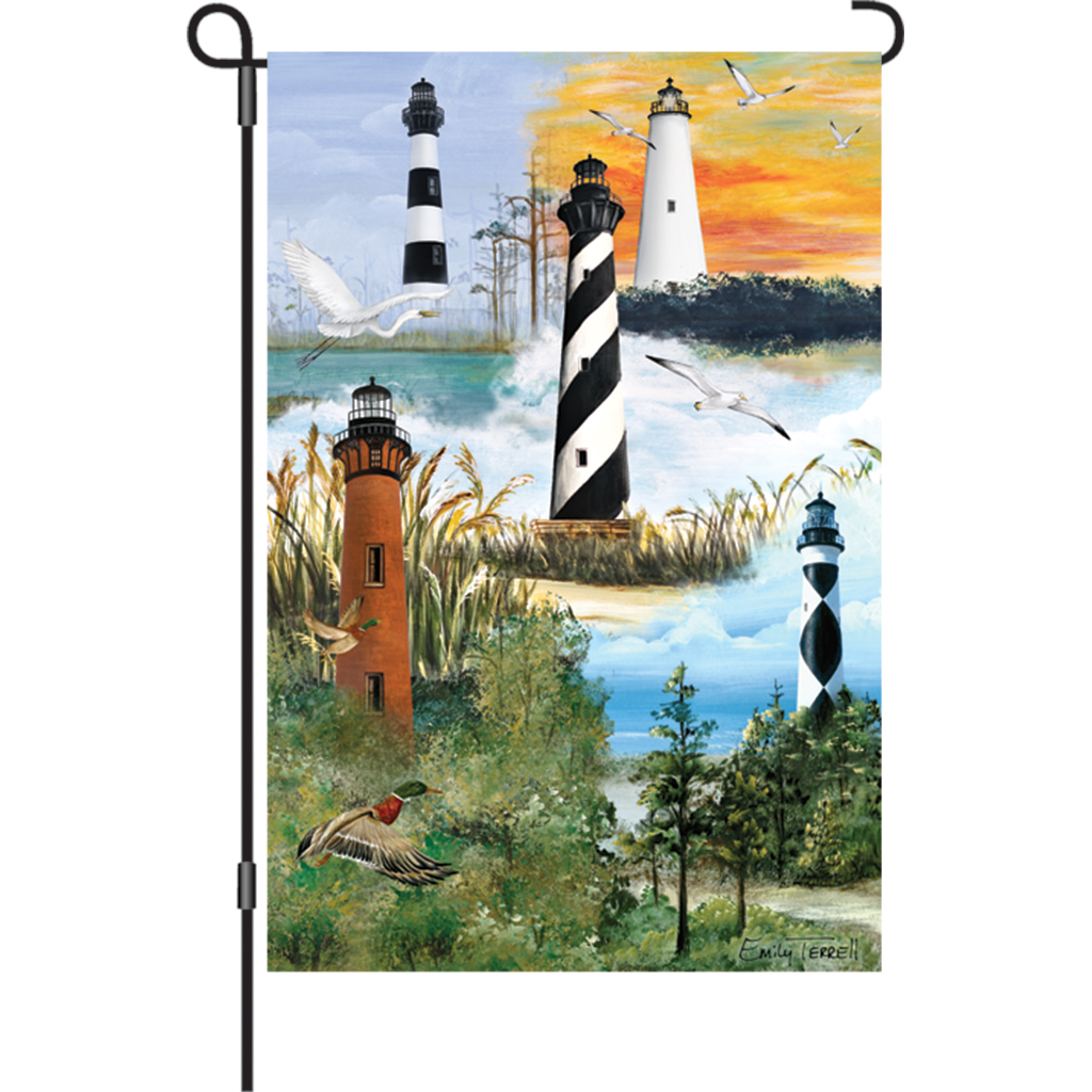 Garden Flag - Outer Banks Lighthouses