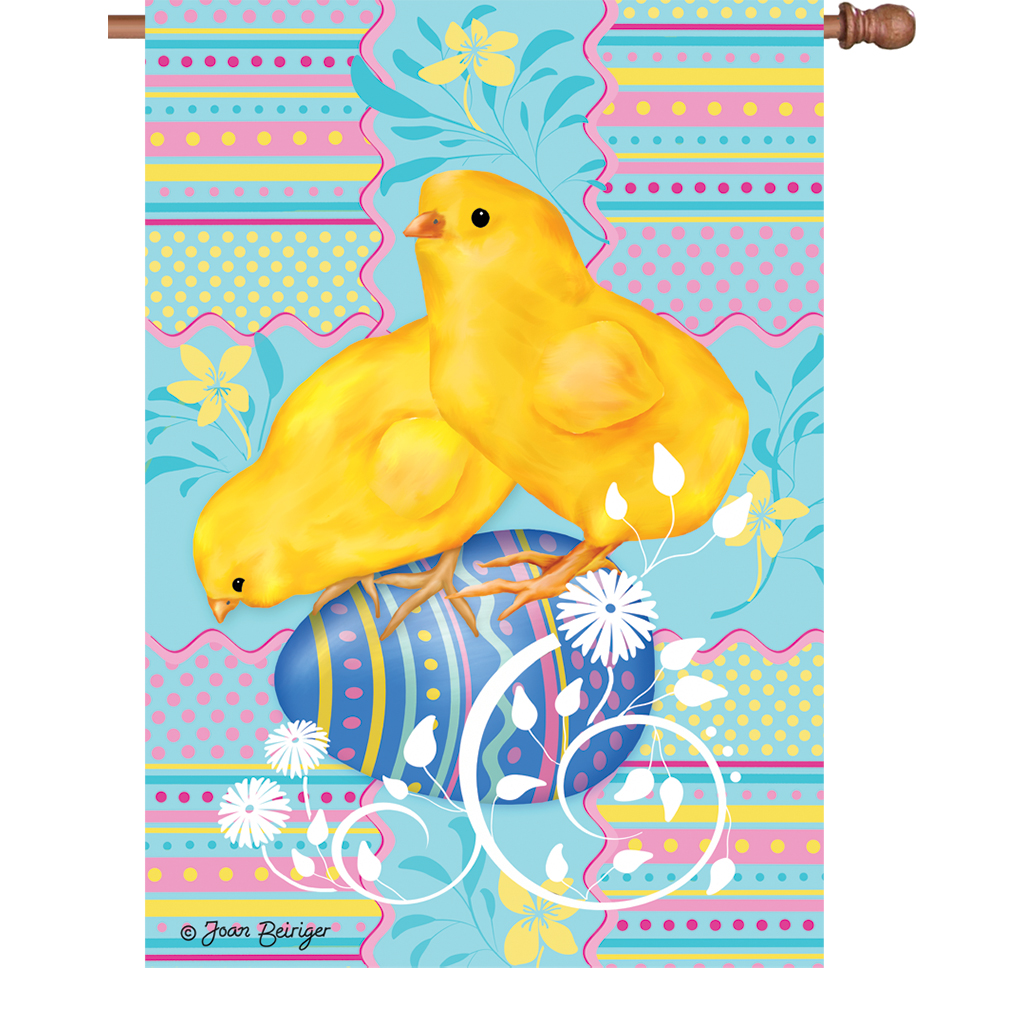 Easter House Flag - Easter Chick