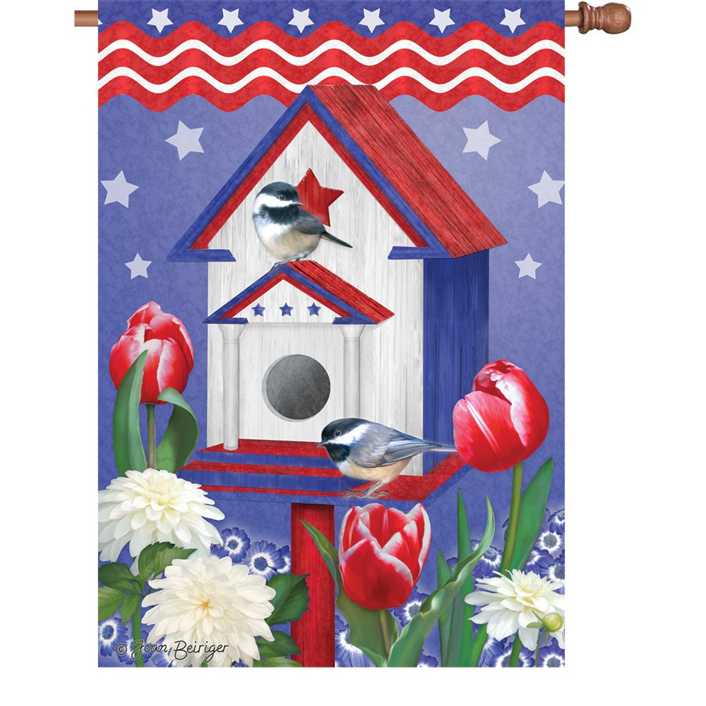 Patriotic Birdhouse - House Flag
