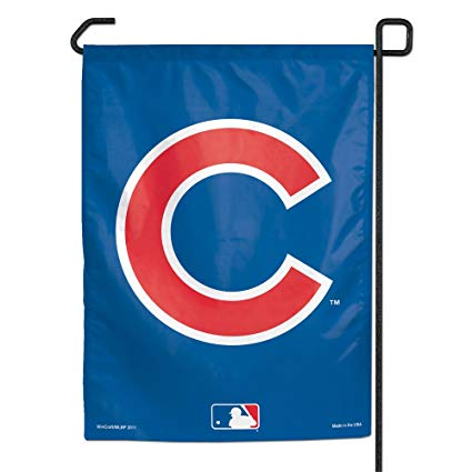 Chicago Cubs C Garden Flag