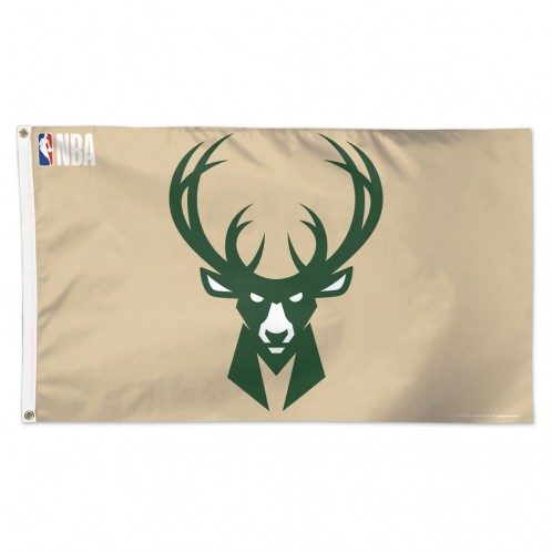 Milwaukee Bucks 3' X 5' Flag - Cream