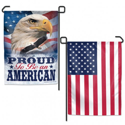 PATRIOTIC GARDEN FLAGS 2 SIDED
