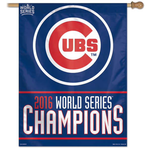 Chicago Cubs World Series House Flag