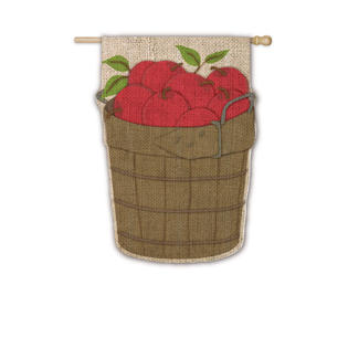 Burlap Apple Basket