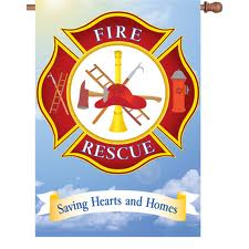 Fire Rescue House Flag