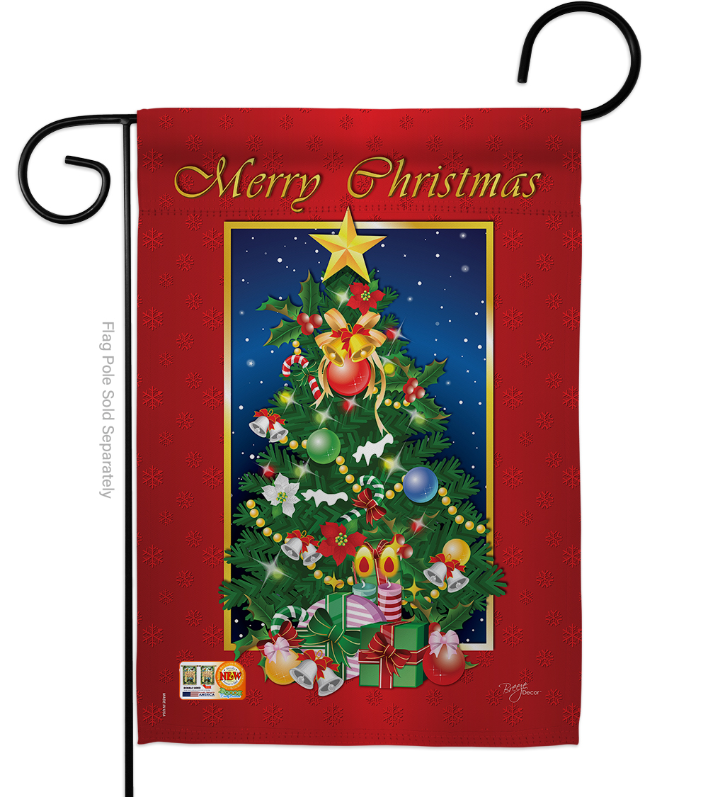 Garden Flag - Merry Christmas Tree