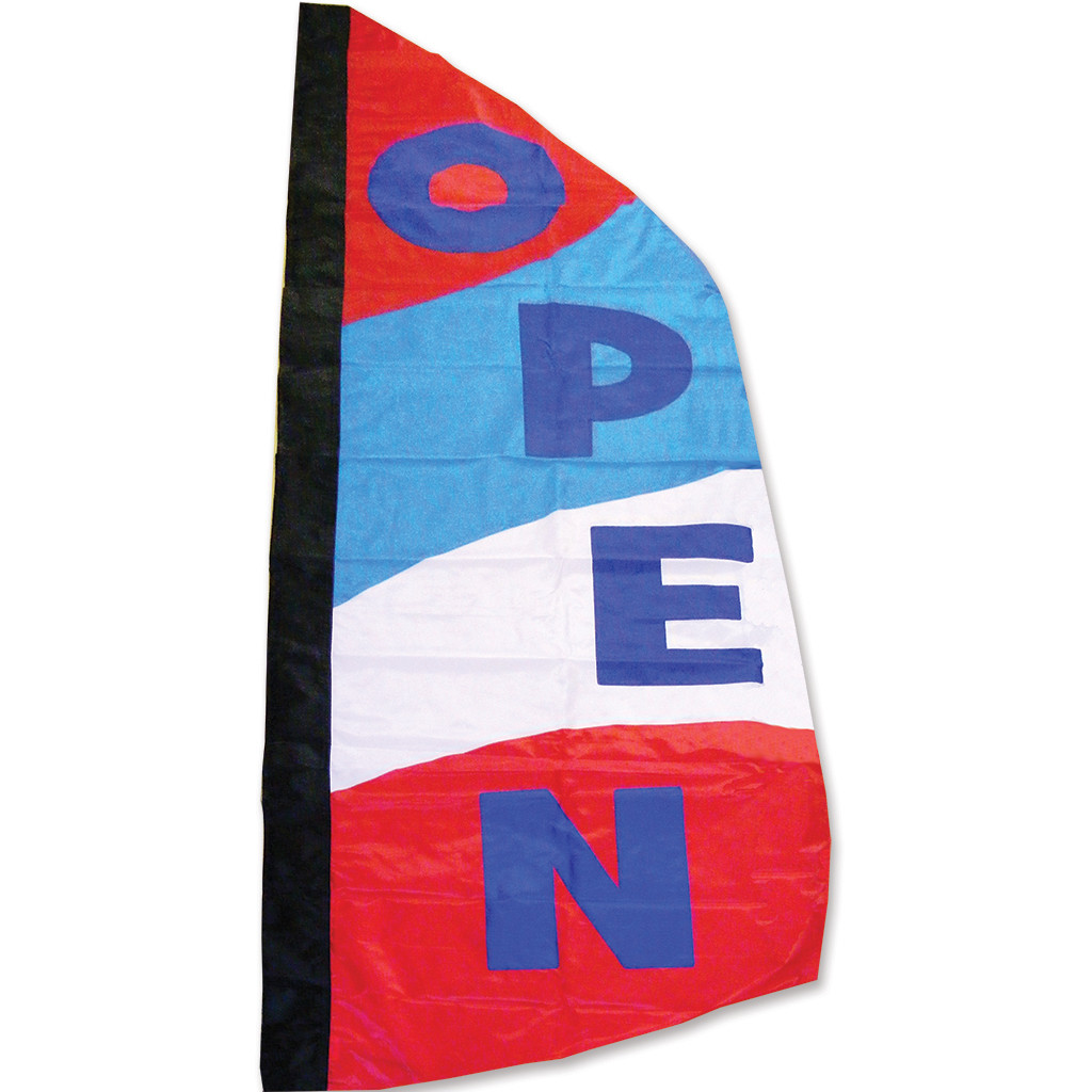 OPEN - 8.5 ft. Patriotic Feather Banner