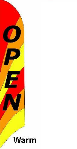 Open Feather Banner - Warm