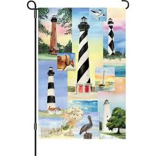 5 Lighthouses Garden Flag