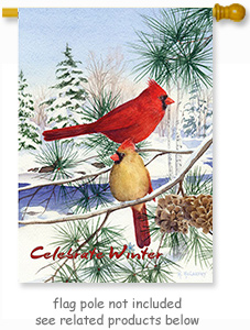 House Flag - Cedar Farm Cardinals
