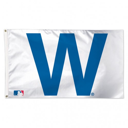Delux 3' x 5' Chicago Cubs W Flag