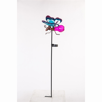 Solar Butterfly Stake - Pink