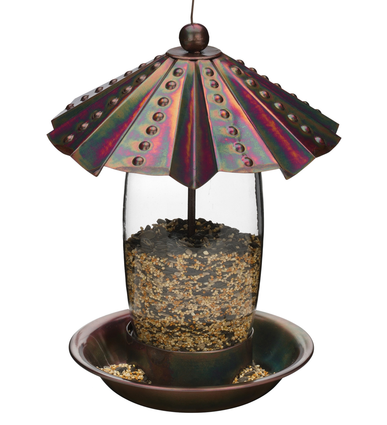 Bird Feeder - Bronze Dots