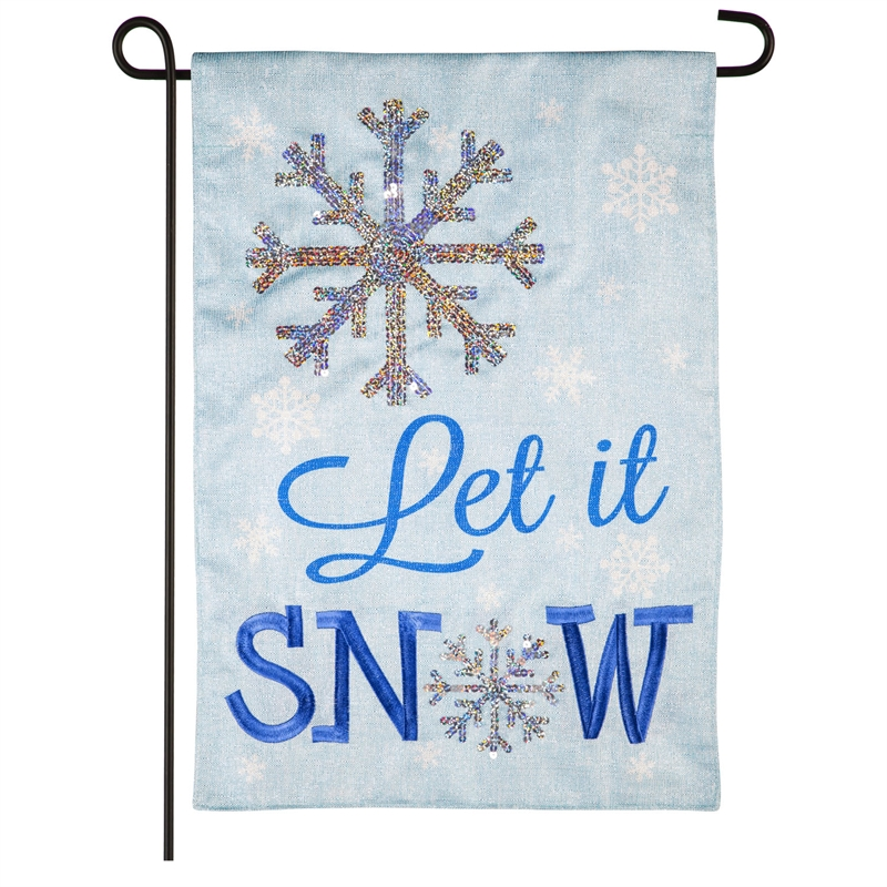 Let It Snow Shimmer Flag