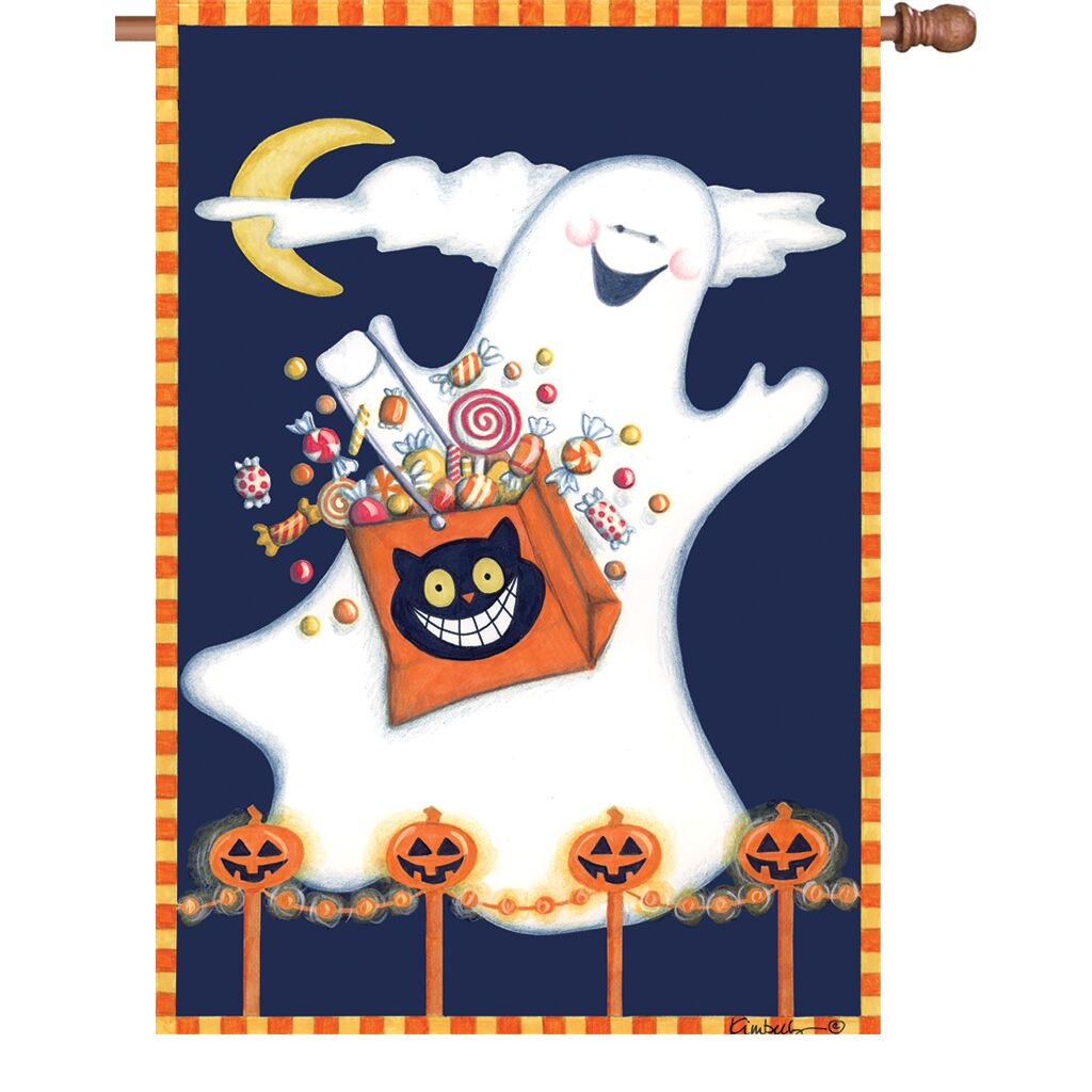 Candy Ghost House Flag