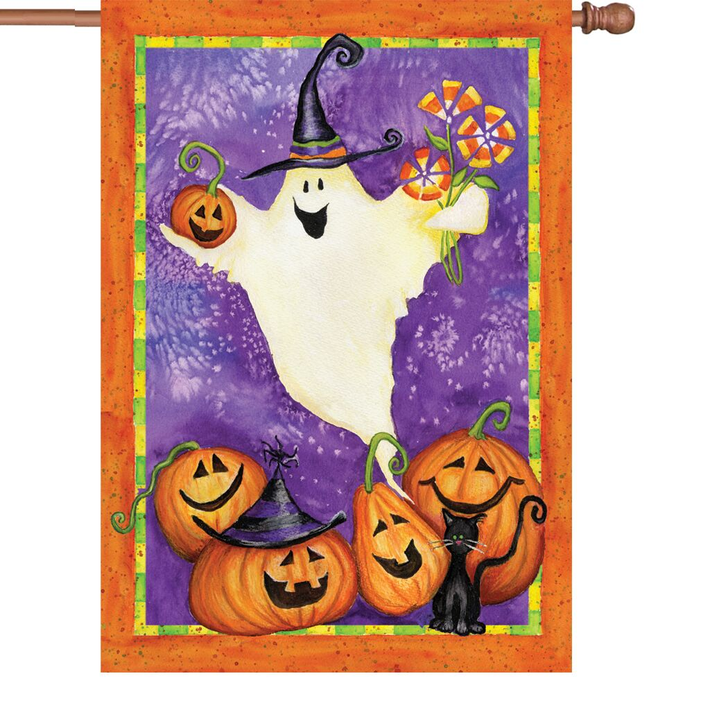 Halloween - Ghostly Gifts House Flag
