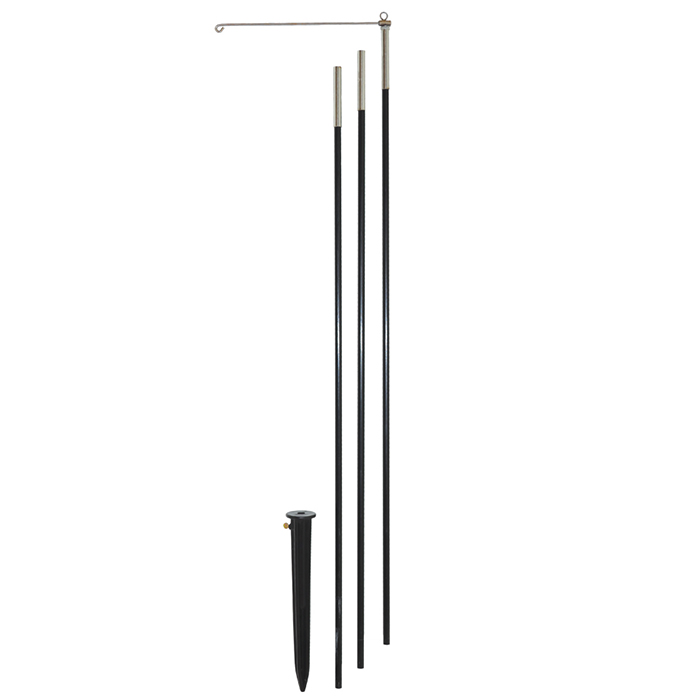 10' 3 - Section Heavy Duty Pole with Swiveling Arm