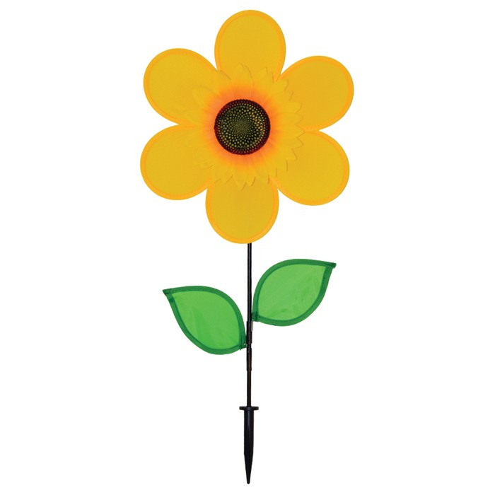 "12"" Sunflower with Leaves - Yellow"