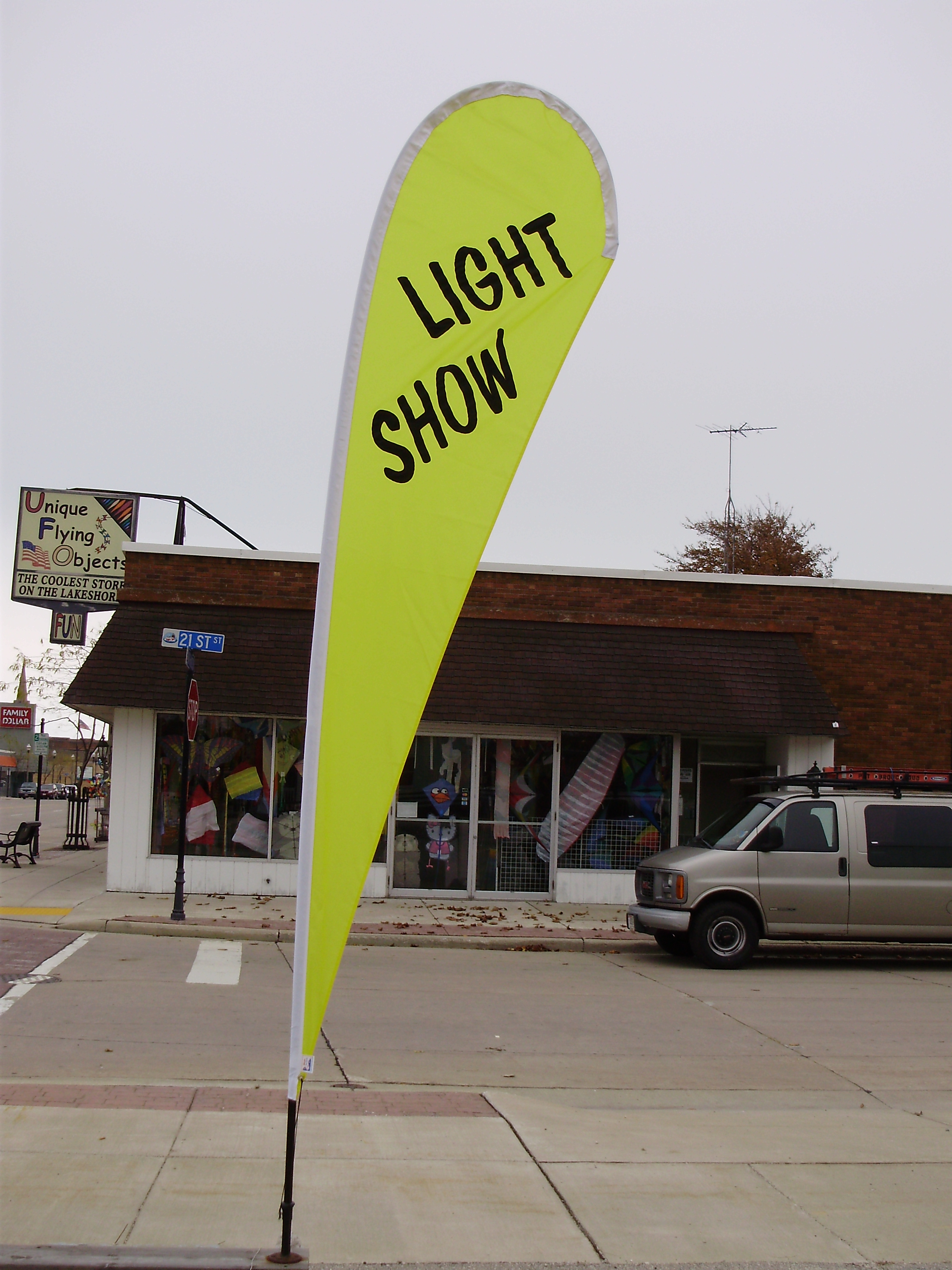 10ft. LIGHT SHOW Custom Teardrop Banner
