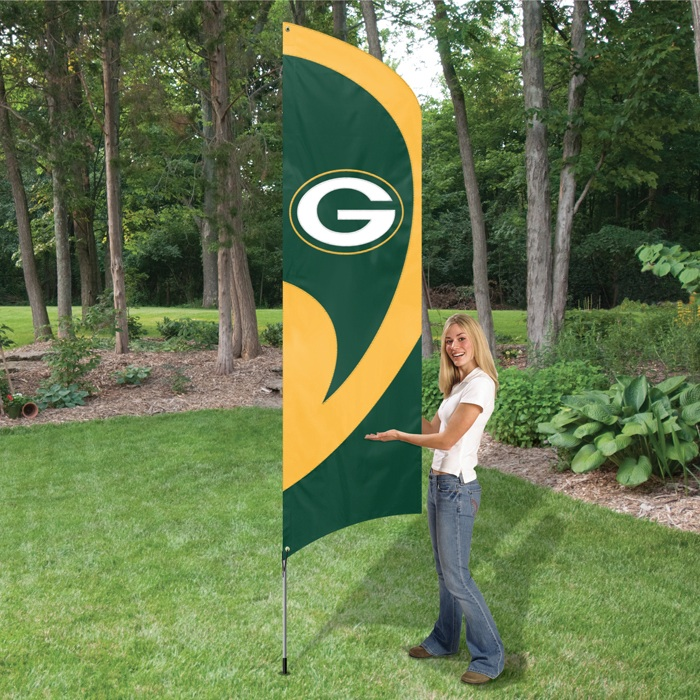 Packers Tall Team Flag