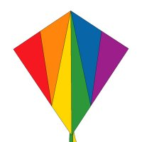 "16"" Rainbow Hot Air Balloon Spinner"