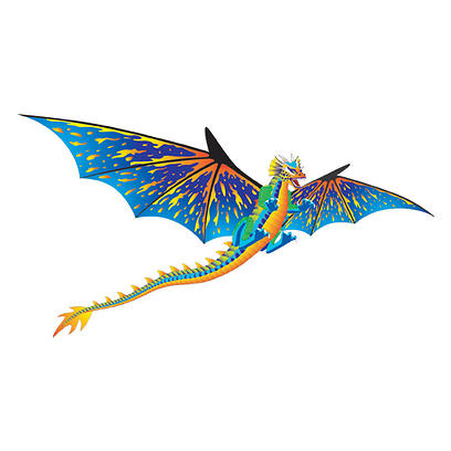 3-D Dragon 1 - Blue