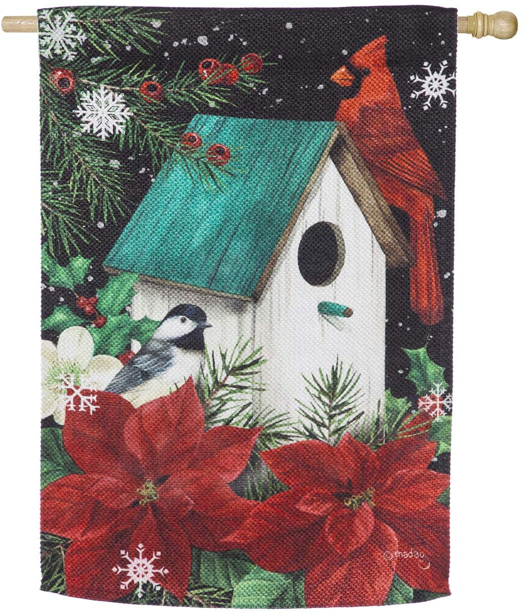 Poinsettia Birdhouse