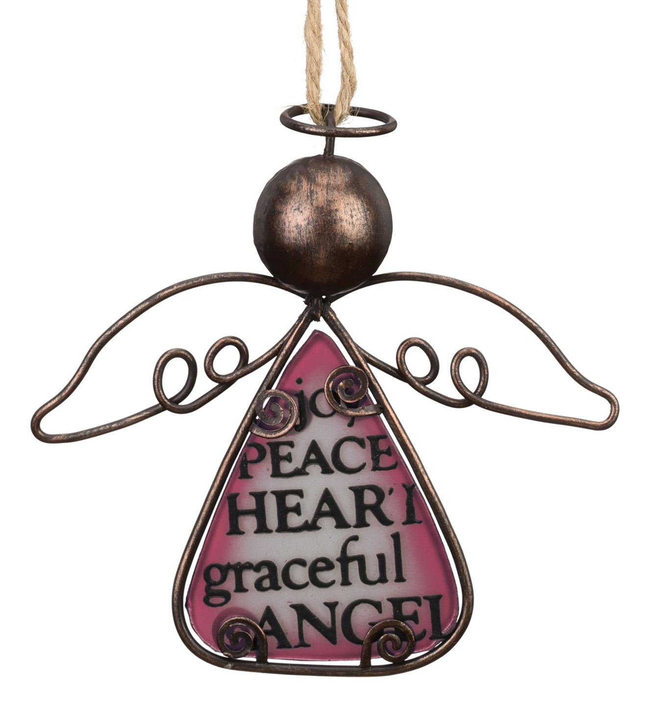 Sentiment Angel Ornament - Rose